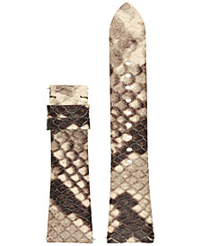 Michael Kors Access Women's Bradshaw Gray & Black Python Embossed Leather Smartwatch Strap MKT9008