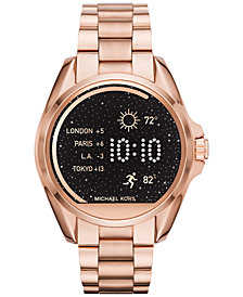 Michael Kors Access Unisex Digital Bradshaw Rose Gold-Tone Stainless Steel Bracelet Smart Watch 45mm MKT5004