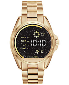 Michael Kors Access Unisex Digital Bradshaw Gold-Tone Stainless Steel Bracelet Smartwatch 45mm MKT5001