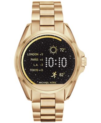 Michael Kors Access Unisex Digital Bradshaw Gold-Tone Stainless Steel Bracelet Smartwatch 45mm MKT5001. Smart Watch