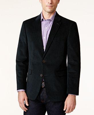 Tommy Hilfiger Men's Slim-Fit Corduroy Elbow Patch Sport Coat ...