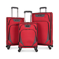 Kenneth Cole Reaction Going Places Spinner 3-Pc. Luggage Set (Black / Red)