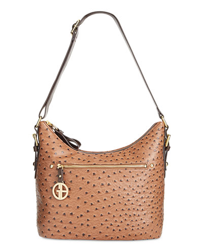 Giani Bernini Ostrich Printed Hobo, Only at Macy's - Handbags ...