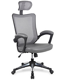 Techni Mobili Executive Chair Gray, Quick Ship