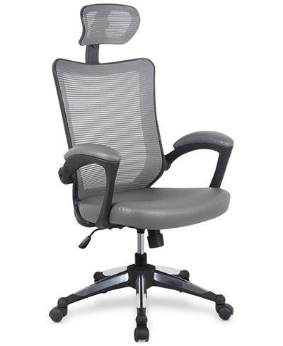 Techni Mobili Executive Chair Gray, Quick Ship