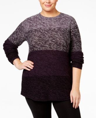 Style & Co. Plus Size Ombré Sweater, Only at Macy's