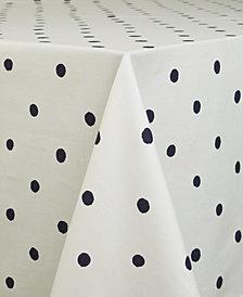 "kate spade new york Charlotte Street Navy Oblong 60"" X 102"" Tablecloth"