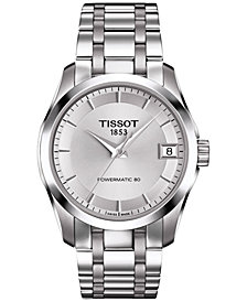 Tissot Women's Swiss Automatic Couturier Powermatic 80 Stainless Steel Bracelet Watch 32mm T0352071103100