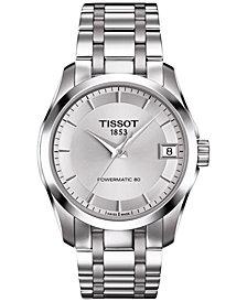 Tissot Women's Swiss Automatic Couturier Powermatic 80 Stainless Steel Bracelet Watch 32mm T0352071103100