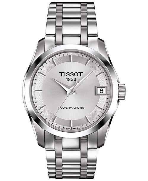 1606d4d83 ... Tissot Women's Swiss Automatic Couturier Powermatic 80 Stainless Steel  Bracelet Watch 32mm T0352071103100 ...