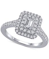 Marchesa Certified Diamond Engagement Ring (1 ct. t.w.) in 18k White Gold