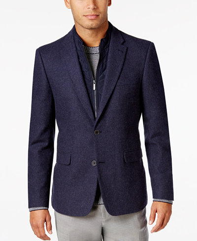 Tommy Hilfiger Men's Slim-Fit Sport Coat with Removable Bib Insert ...