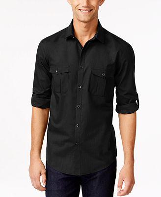 Alfani Men S Warren Long Sleeve Shirt Created For Macy S Casual