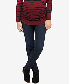 Motherhood Maternity Dark Wash Side Panel Skinny Jeans