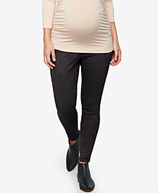 A Pea In The Pod Maternity Faux-Suede Leggings