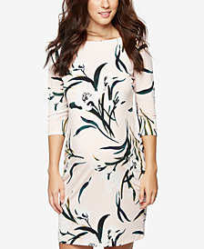 Taylor Maternity Printed Sheath Dress
