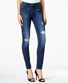 M1858 Kristen Ripped Ballard Wash Skinny Jeans, Created for Macy's