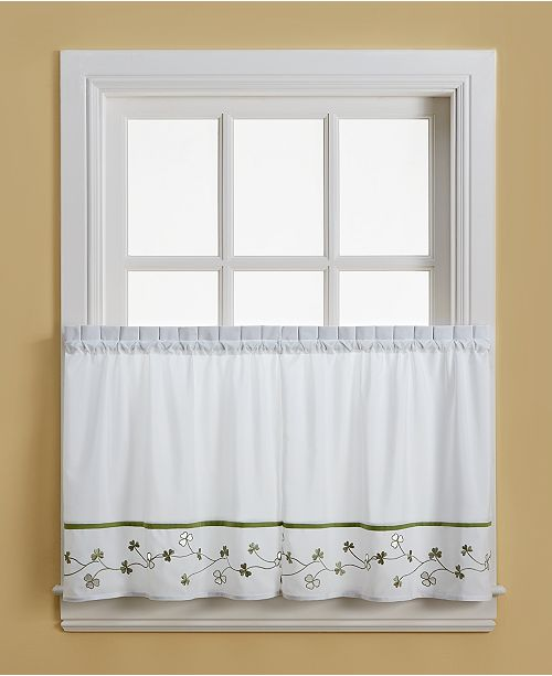 "CHF Clover 58"" x 24"" Pair of Tier Curtains"