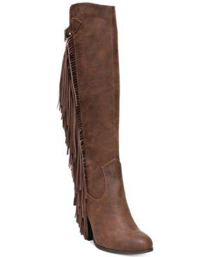 Carlos by Carlos Santana Roslyn Fringe Block-Heel Tall Boots Women