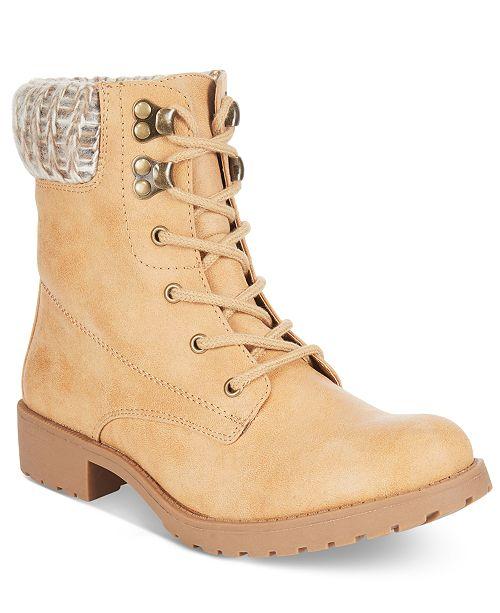 52ada26fd7 Seven Dials Soha Sweater-Cuff Booties   Reviews - Boots - Shoes - Macy s