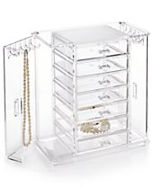 Honey Can Do Acrylic Arielle Jewelry Chest