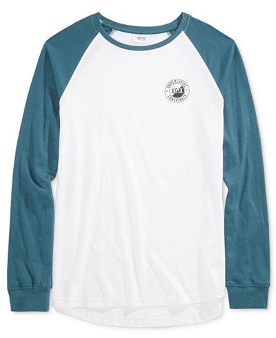 WeSC Men's Raglan Graphic-Print Shirt
