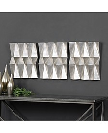 Maxton 3-Pc. Multifaceted Panel Wall Art