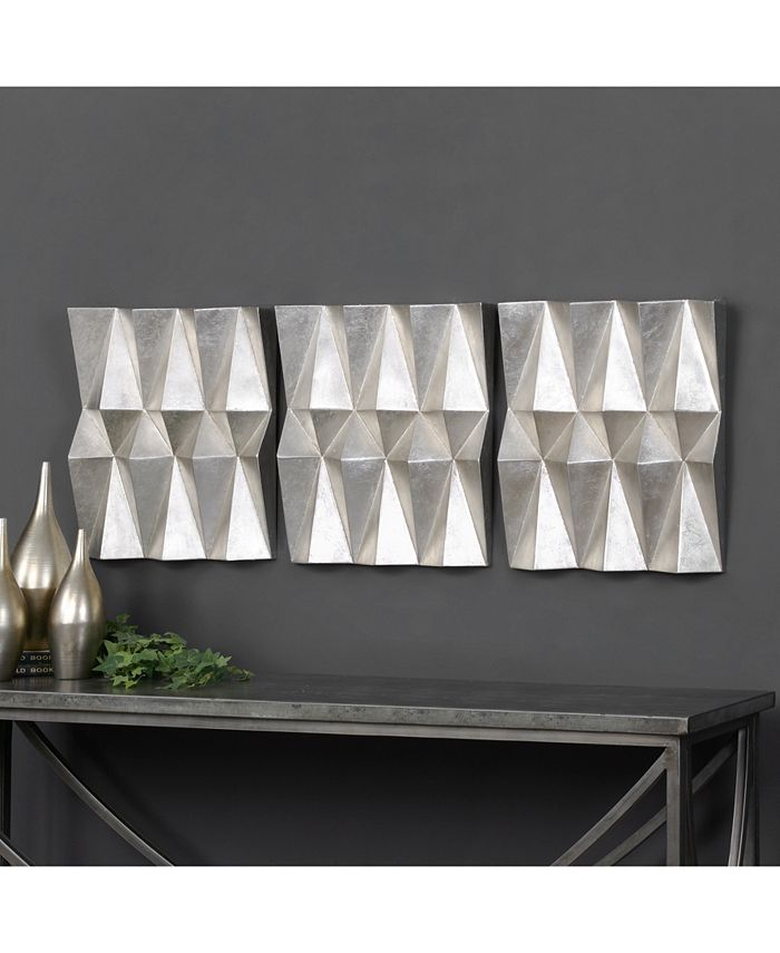 Uttermost - Maxton 3-Pc. Multifaceted Panel Wall Art