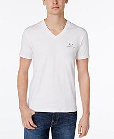 A|X Armani Exchange Men's AX Signature Logo V-Neck T-Shirt