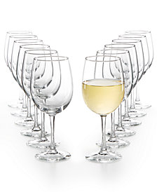 Martha Stewart Essentials 12-Pc. White Wine Glasses Set, Created for Macy's