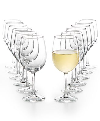 Martha Stewart Collection 12 Pc White Wine Glasses Set Created For