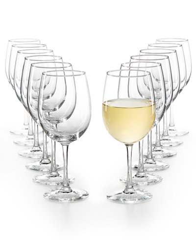 Martha Stewart Essentials 12-Pc. White Wine Glasses Set, Created for Macy's