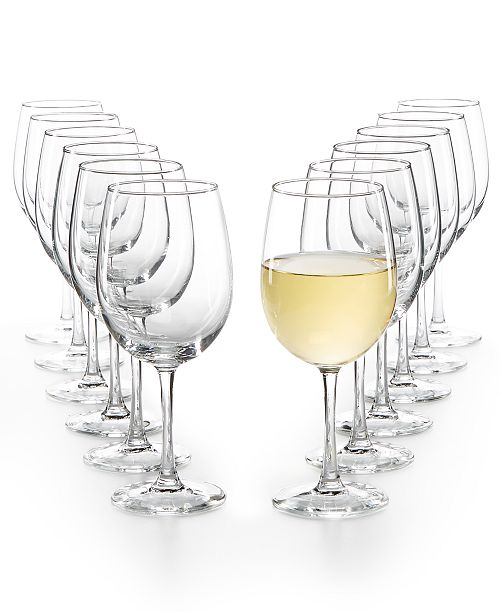 Martha Stewart Collection 12-Pc. White Wine Glasses Set, Created for Macy's