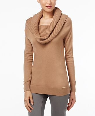 MICHAEL Michael Kors Cowl-Neck Sweater - Sweaters - Women - Macy's