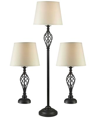 Kenroy Home Avett 3-Pc. Lamp Set: 1 Floor Lamp & 2 Table Lamps