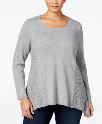 Style & Co. Plus Size Pointelle Sweater, Only at Macy's