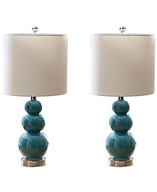 Set of 2 Gourd Table Lamps