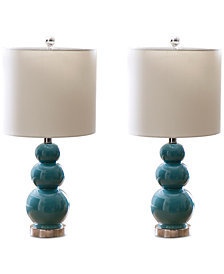 Abbyson Living Set of 2 Gourd Table Lamps