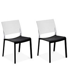 Fiona Set of 2 Translucent Indoor/Outdoor Chairs