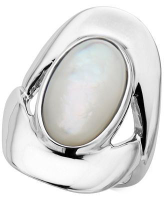 Nambé Mother-of-Pearl Oval Ring in Sterling Silver, Only at Macy's