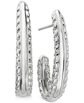 Nambé Braid Drop Earrings in Sterling Silver, Only at Macy's