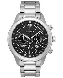 citizen citizen macy s citizen men s chronograph quartz stainless steel bracelet watch 46mm an8150 56e a macy s exclusive