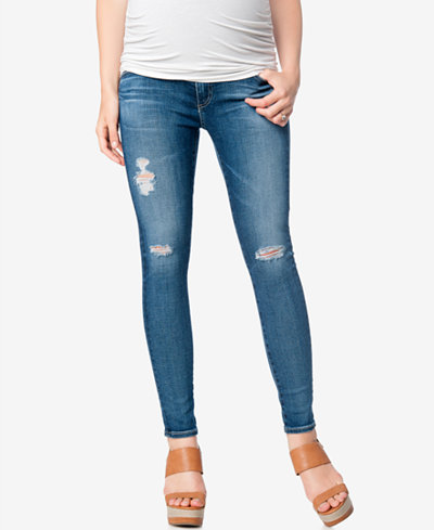 AG Jeans Maternity Secret Fit Belly® Ripped Ankle Jeggings - AG Jeans Maternity Secret Fit Belly® Ripped Ankle Jeggings