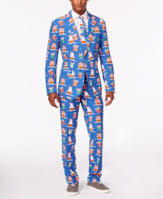 OppoSuits Men's Giftmas Eve Slim-Fit Suit and Tie, Created for ...
