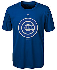 Majestic  Chicago Cubs Cool Base Reflective T-Shirt, Big Boys (8-20)