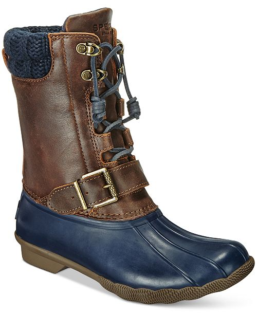 88780558928c Sperry Women s Saltwater Misty Duck Boots   Reviews - Boots - Shoes ...