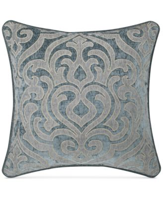 "J. Queen New York Sicily Teal 20"" Square Deocrative Pillow"