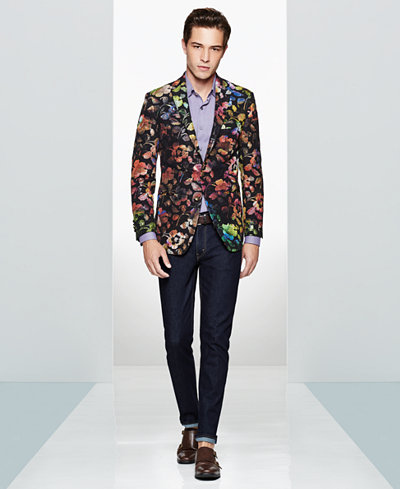Tallia Men's Metallic Floral Sport Coat