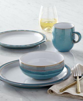 Denby Dinnerware Azure Collection & Denby Azure 16-Pc. Dinnerware Set Service for 4 - Dinnerware ...