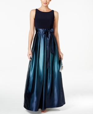 Vintage Evening Dresses and Formal Evening Gowns Sl Fashions Ombre Satin Bow Sash Gown $119.00 AT vintagedancer.com